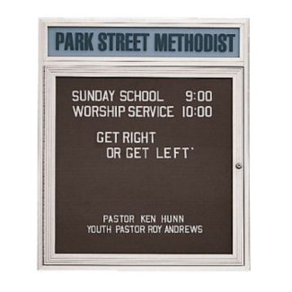 "Outdoor Directory with Header 36""W x 36""H, B20786"