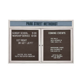 "Outdoor Letterboard with Header 60""W x 36""H, B20805"