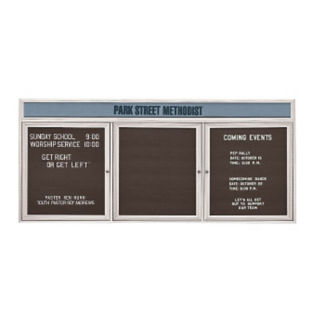 "Outdoor Directory with Header 72""W x 36""H, B20790"