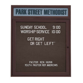 "Outdoor Bronze Directory with Header 36""W x 36""H, B20795"