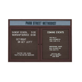 "Outdoor Letterboard with Header 72""W x 48""H, B20814"
