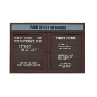 "Outdoor Bronze Directory with Header 96""W x 48""H, B20801"