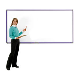 DecoAurora Porcelain White Board 12'wx4'h, B20883