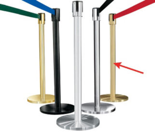 Satin Brass Post with 7' Strap, G10043