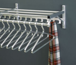 "Coat Rack with Shelf and Extra Hooks 30"" Long, W60026A"