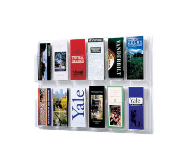 Literature Rack with Acrylic Front 12 Brochure Pockets, D33036