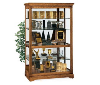 """Parkview Display Case 50'' Wide x 80"""" High with Mirror Back, B34258"""
