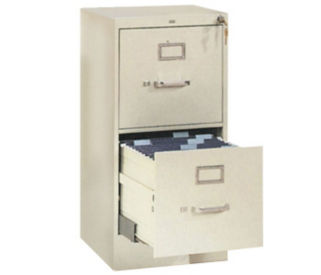 Two Drawer Letter Size Vertical File, L40334