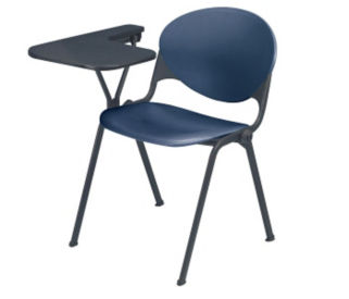 Plastic Heavy Duty Stack Chair with Writing Tablet, C60193