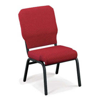 Vinyl Armless Stack Wing Chair with Bolster Seat, C67811