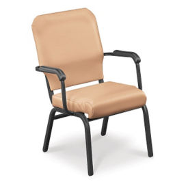 Fabric Wing Stack Chair with Bolster Seat, C67812