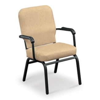 Vinyl Stack Wing Arm Chair , C67817