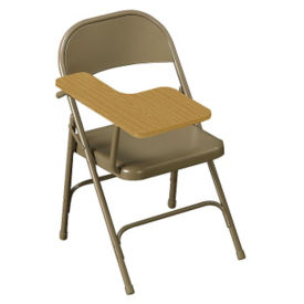 All Steel Folding Chair with Right Tablet Arm, C52017