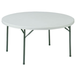 "Blow Molded 60"" Round Poly Folding Table, D41518"