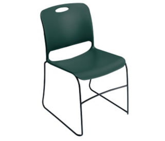 Polypropylene Stack Chair without Glides, C60219