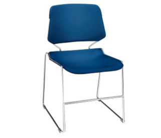 Stack chair with Sled Base No Arms, C60155