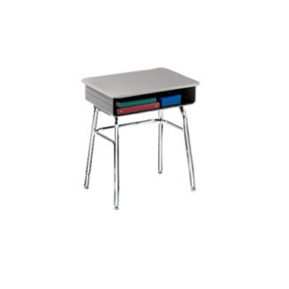 """Adjustable Height Open Front Desk with Steel Glides- 24""""-30""""H, D12019"""