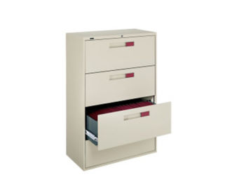 "36"" W Lateral File with 4 Drawers & Full Pull Handles, D34071"