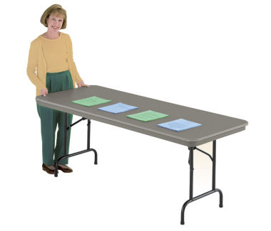 "DuraLite Folding Table 30"" wide x 60"" long, D41297"