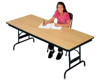 "30"" x 72"" Adjustable Height Folding Table, D41531"