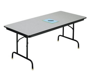 "30"" x 72"" Folding Table with Honeycomb Top, D41538"