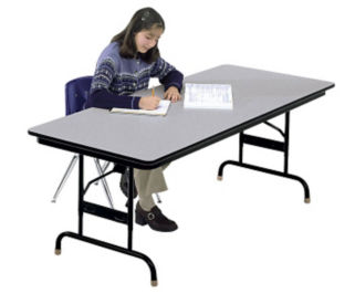Adjustable Height Folding Table 36x96 Honeycomb Top, D41545