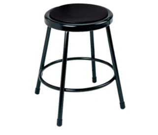 "Stool Vinyl 18"" No Backrest, D57022"