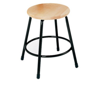 "Stool Wood Seat Adjus19""-27"", D57044"
