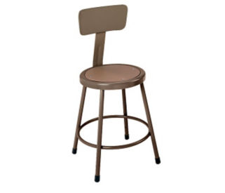"Stool Steel Seat 18"" with Backrest, D57024"