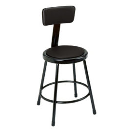 Adjustable Vinyl Stool with Backrest, D57046