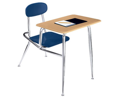 """Chair Desk 18"""" High with Rectangle Top, D57139"""