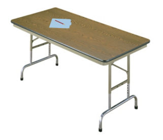 "Folding Table 30""x72"" Adj Ht, T10037"