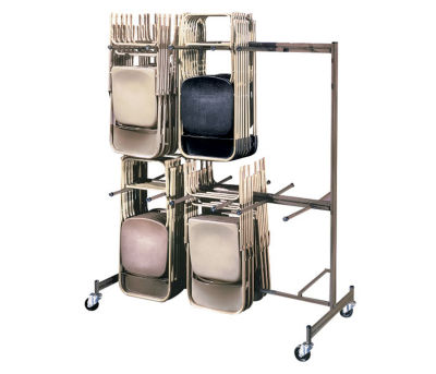 Compare Two Tier Folding Chair Caddy V20014  sc 1 st  Dallas Midwest & Folding Chair Cart | Shop School Church u0026 Group Seating Storage ...