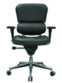 Genuine Leather High Back Ergonomic Chair, C80404