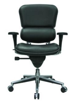 Genuine Leather High Back Ergonomic Chair, C80404