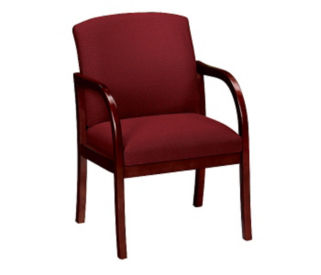 Oversized Vinyl Guest Chair, W60719
