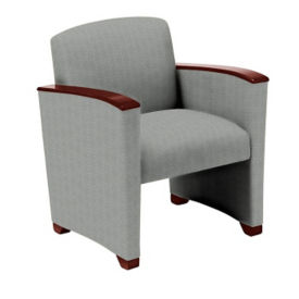 Vinyl Guest Chair with Arms, W60724
