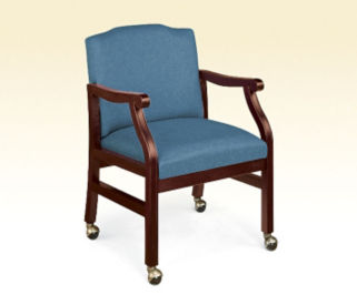 Mobile Heavy Duty Fabric Guest Chair, D53042
