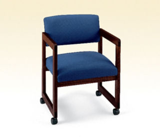 Mobile Heavy Duty Fabric Guest Chair, D53015