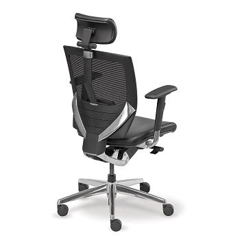 Arris Leather Mesh Chair with Headrest - C80265 and more Products