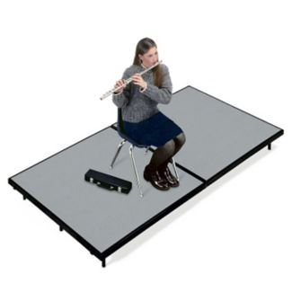 "Mobile Stage 4x8x8"" High With Gray Poly Surface, D21012"