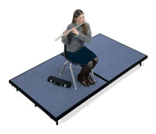 "Mobile Stage 4x8x24"" High With Gray Poly Surface, D21014"