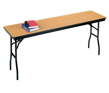 "Laminate Plywood Folding Table 18"" wide x 72"" long, D41212"