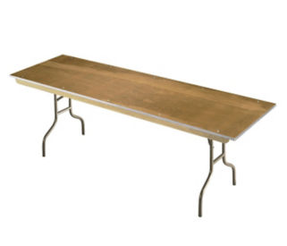 "Plywood Folding Table 30"" wide x 96"" long, D41209"