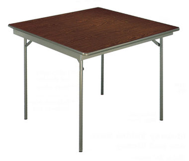 "Folding Card Table with Laminate on Plywood Top 36"" Square, T10149"