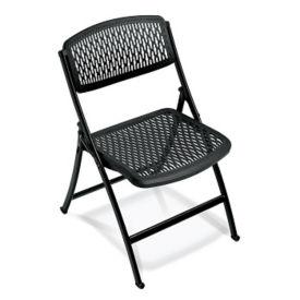 Vented Plastic Folding Chair, C50150