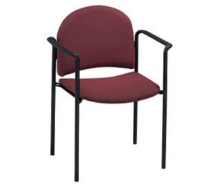 Stand Fabric Stack Chair with Arms, C67719