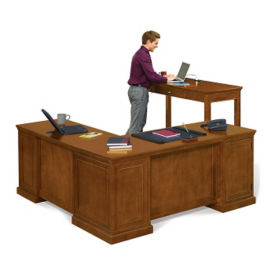Right L-Desk and Stand Up Desk Set, D35258