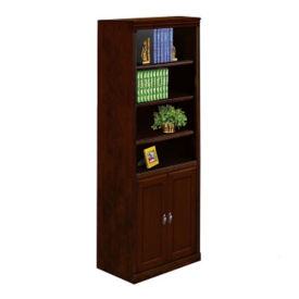 "Six Shelf Bookcase with Doors - 72"" H, B32094"