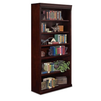 "Six Shelf Traditional Bookcase - 72"" H, B32093"
